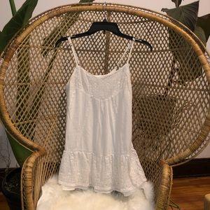 Boho Abercrombie kids white lace mini dress